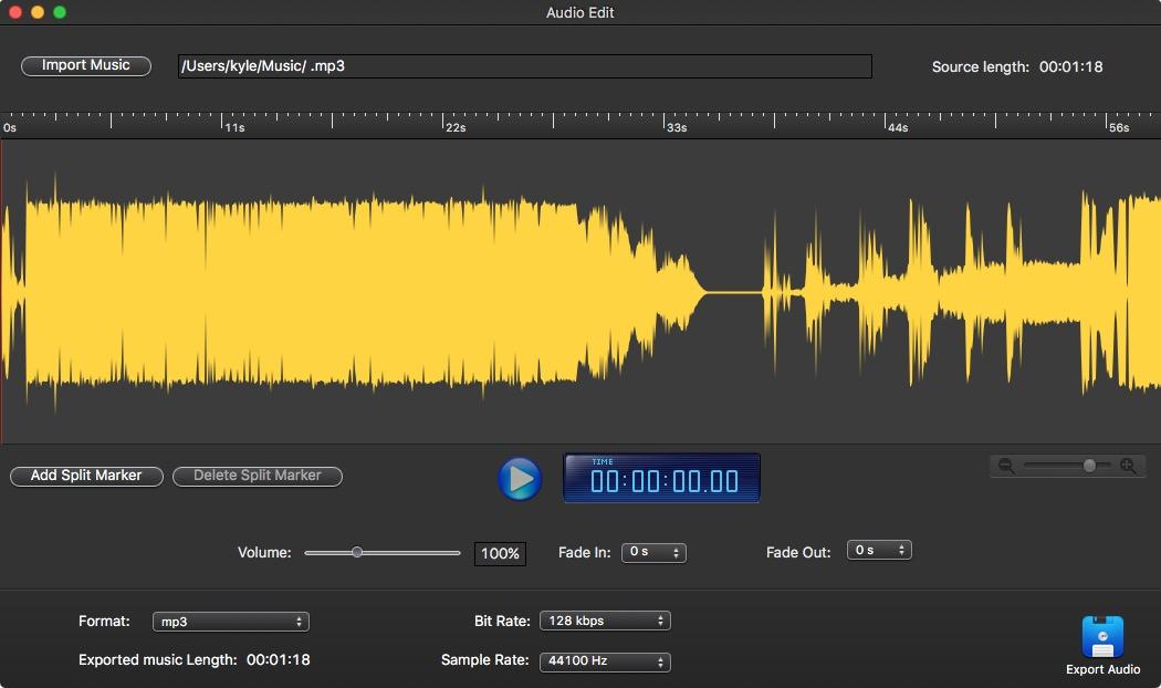 Audio Record Pro 편집화면