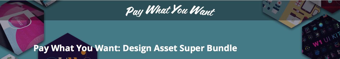 배너이미지 Pay What You Want: Design Asset Super Bundle