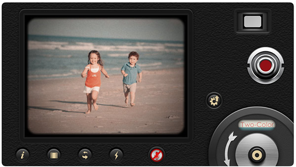 8mm vintage camera 촬영화면 스크린샷