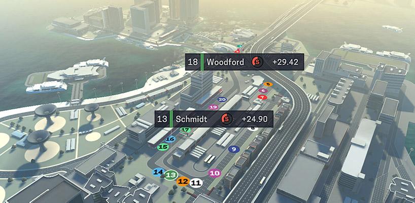 Motorsport Manager Mobile 2 경기화면