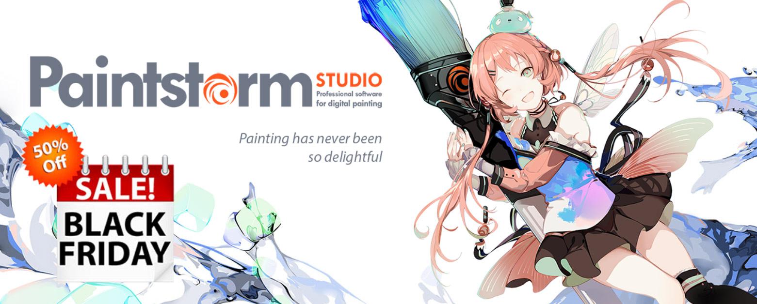 Paintstorm Studio 블랙프라이데이 배너