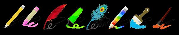 브레인 도트 다양한 펜과 색연필