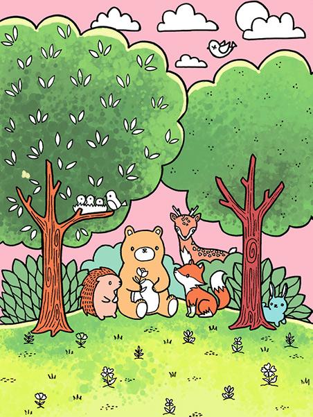 숲속 동물 친구들