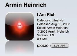 I am rich 아이폰 앱