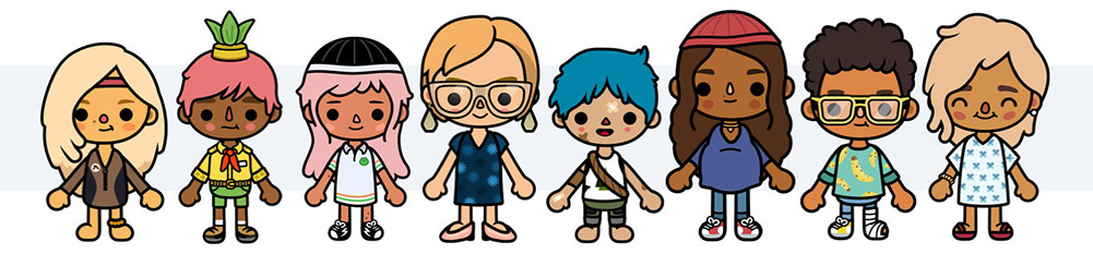 토카라이프 시리즈 캐릭터들