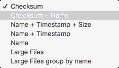 comparisons 파일비교 기준 목록