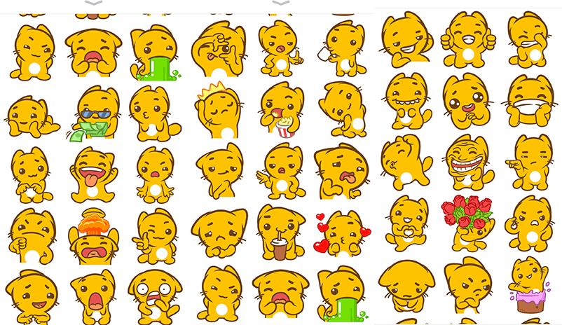 emoticats stickers