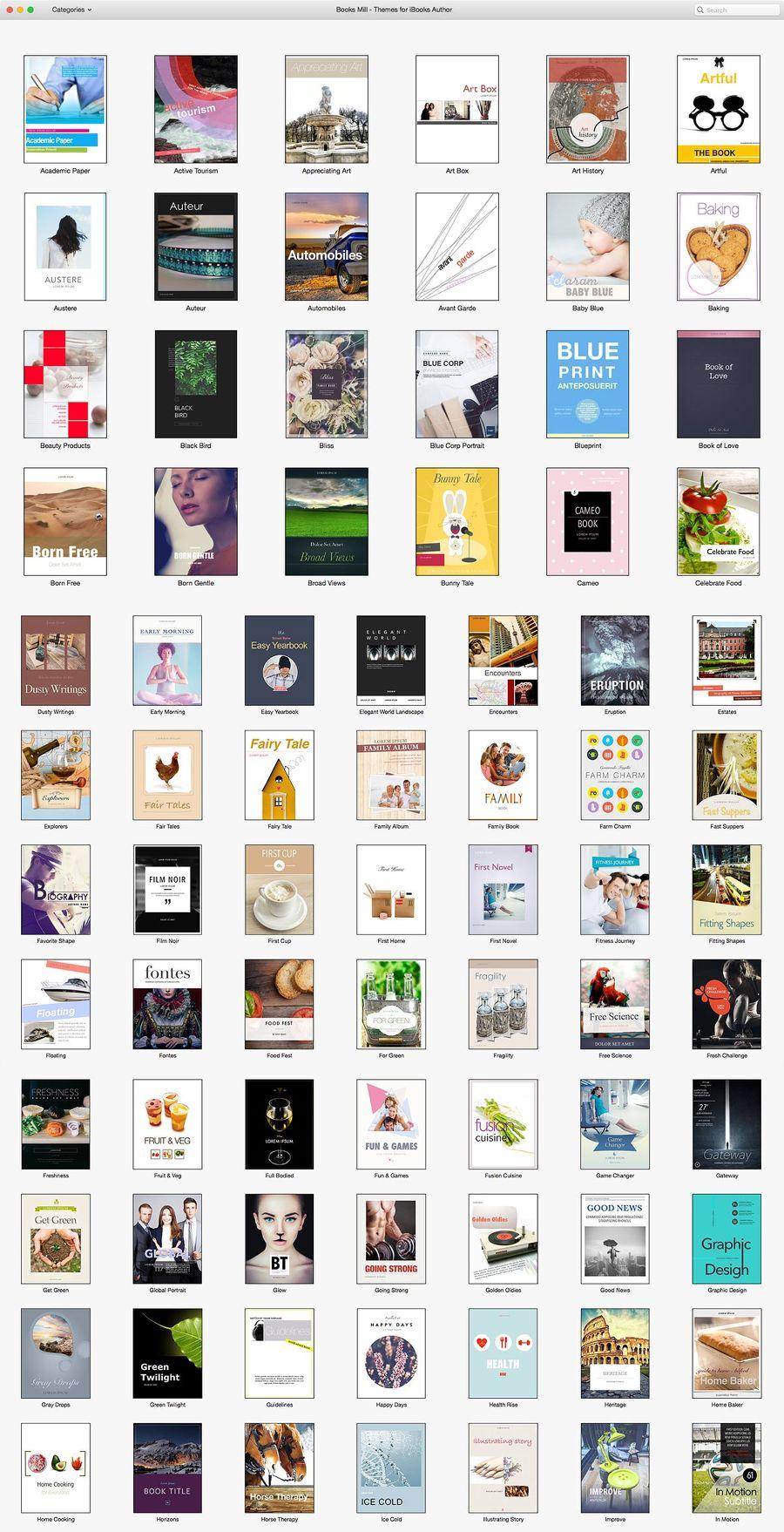Books Mill - Themes for iBooks Author 템플릿 모음 호면