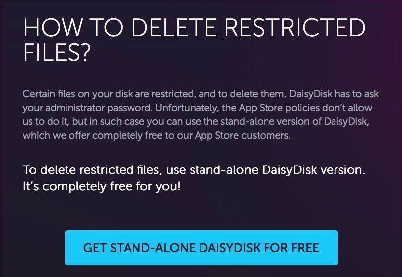 stand alone daisydisk
