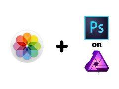 맥 기본 사진앱 + 포토샵 또는 어피니티 포토