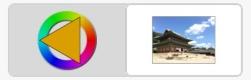 붓모양 아이콘을 누르면 나오는 단색과 사진 중 택 일 선택 버튼