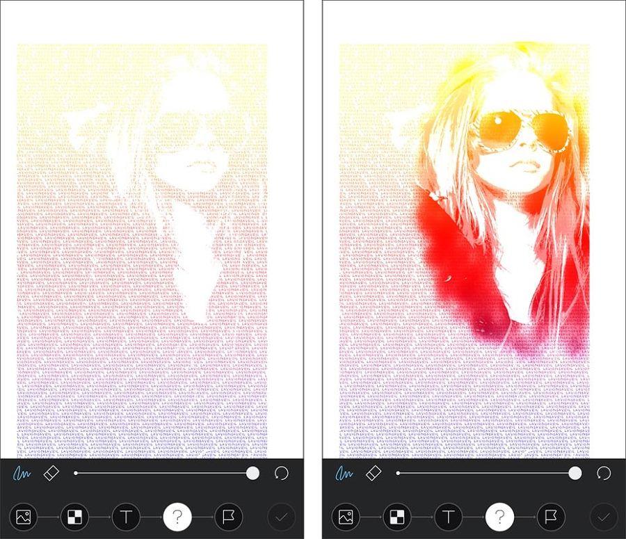 매직스크린 사진을 텍스트로 만들기 효과
