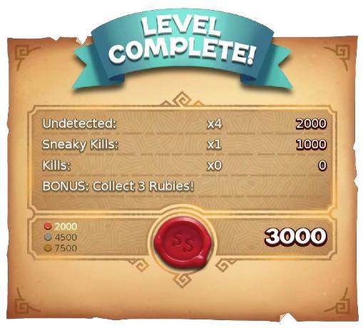 레벨을 완료시마다 게임완료 점수를 볼 수 있어요