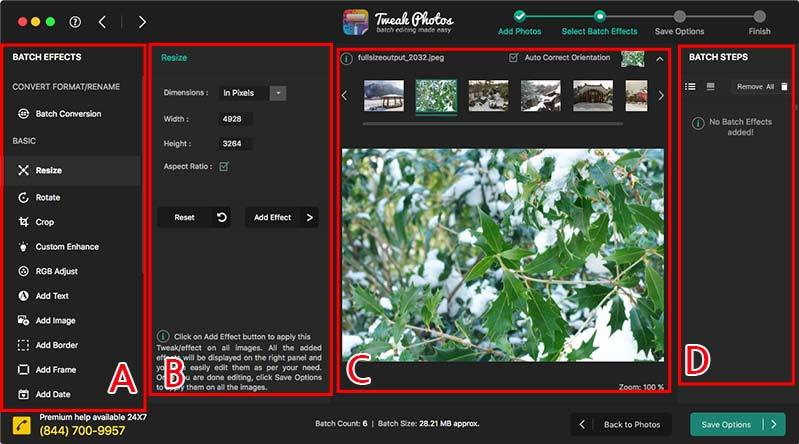 Mac앱-Tweak Photos: 효과 적용하기 개요