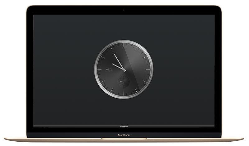 아날로그 시계타마가 맥북에서 실행된 모습