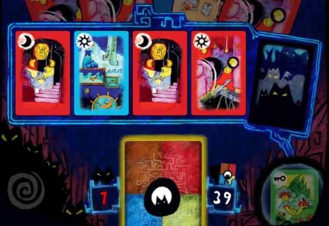 예언에서 왼쪽 4장은 카드덱에 쌓인 순서이고 맨 오른쪽은 버릴카드가 된다