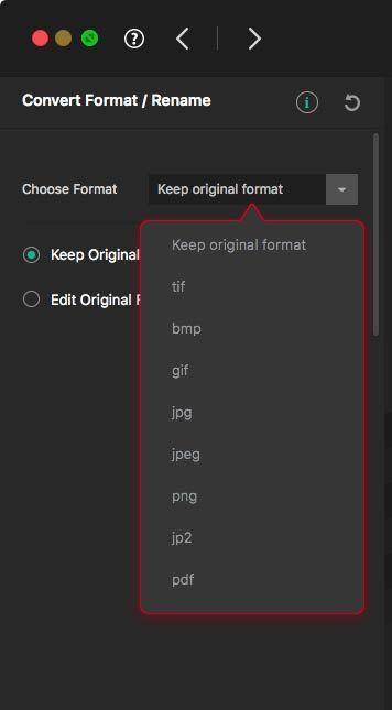 Mac앱-Tweak Photos 파일 포맷 변환