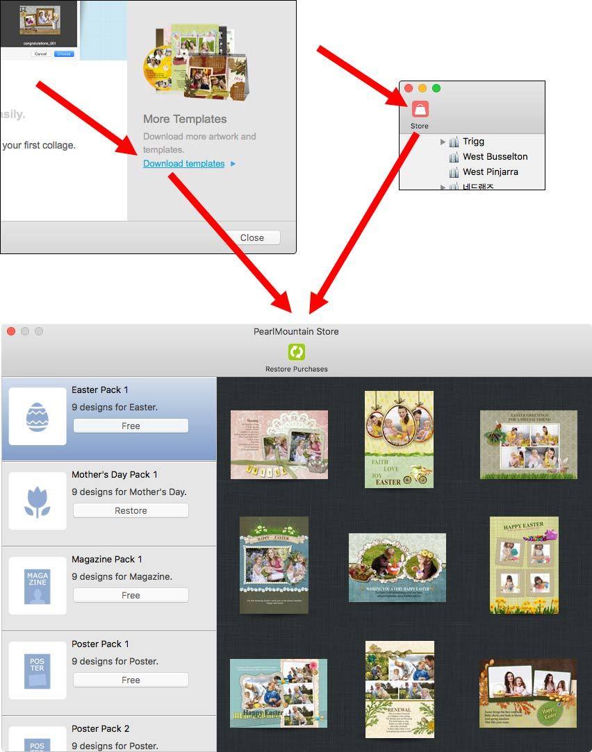 맥앱스토어에서 픽쳐 콜라주 메이커 3 앱내구매 방법. 첫화면의 오른쪽 또는 앱 시작 후 왼쪽위에 앱내 구매 버튼이 있습니다